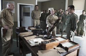 "Desmond Doss refuses to handle a gun in the movie ""Hacksaw Ridge""."